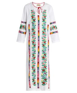 Muzungu Sisters | Jasmine Vine Embroidered Cotton Dress