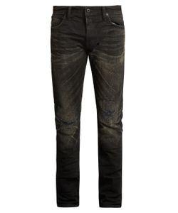 Mastercraft Union | Slim Tapered-Leg Distressed-Knee Jeans