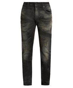 Mastercraft Union | Slim Tapered-Leg Distressed Jeans