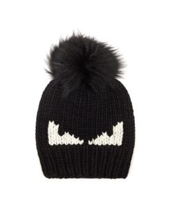 Fendi | Bag Bugs Fur-Pompom Wool Hat