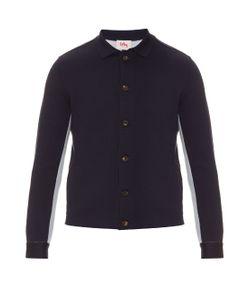 Orley   Bi-Colour Wool And Silk-Blend Knit Shirt