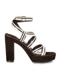 Salvatore Ferragamo | Gen Bi-Colour Suede And Leather Sandals