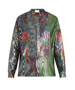 Maison Rabih Kayrouz | Multi-Jacquard Silk-Blend Lamé Shirt