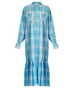Natasha Zinko | Checked Lace-Trimmed Shirtdress