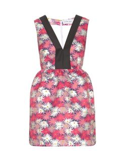 Caterina Gatta | Contrast-Neckline Daisy-Print Dress