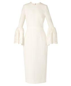 Roksanda | Margot Bell-Sleeved Cady Dress