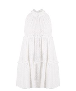 Lisa Marie Fernandez | Mini Ruffle-Trimmed Broderie-Anglaise Cotton Dress