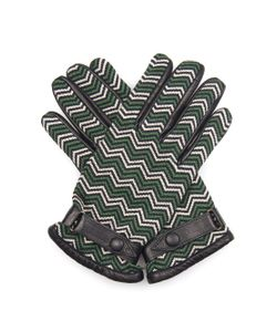Orley | Chevron-Jacquard And Leather Gloves
