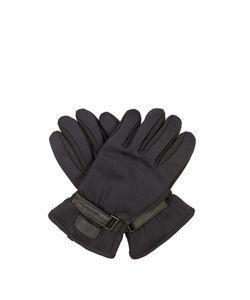 Fendi   Leather-Panelled Gloves