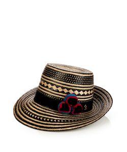 Yosuzi | Kerala Pompom-Embellished Straw Hat