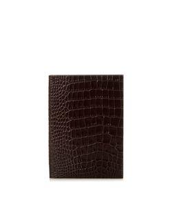 Smythson | Soho Crocodile-Effect Leather Notebook