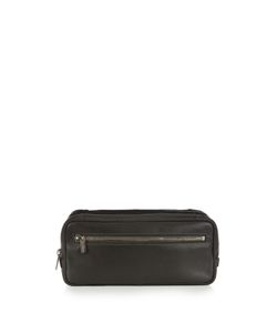 Valextra | Double-Compartment Leather Washbag