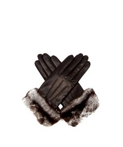 Agnelle | Sonia Rabbit-Fur And Leather Gloves