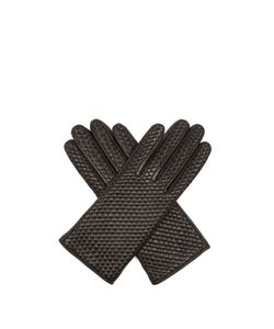 Agnelle | Chloetresse Woven Leather Gloves