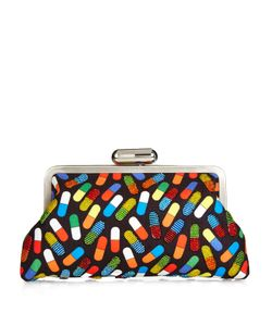 Sarah's Bag | Pop Pill Bead-Embellished Push-Clasp Clutch