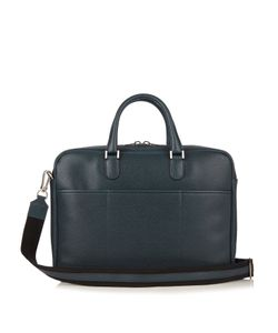 Valextra | Grained-Leather Briefcase
