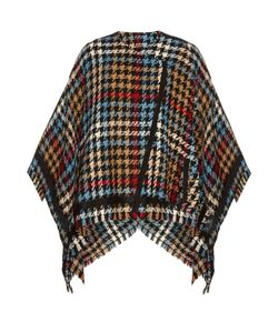Etro | Hounds-Tooth Checked Wool-Blend Cape