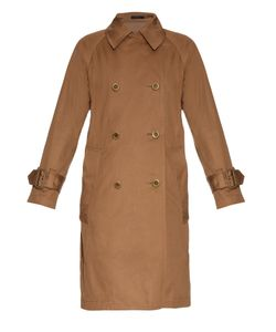YOHJI YAMAMOTO REGULATION | Contrast-Back Double-Breasted Trench Coat