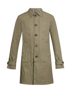 John Varvatos | Button-Down Cotton-Blend Trench Coat