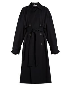 RAEY | Displaced-Sleeve Oversized Twill Trench Coat