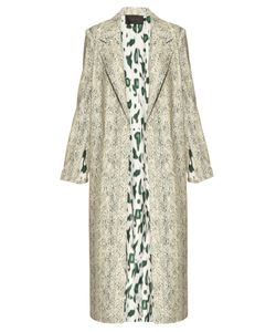 Calvin Klein Collection | Halliwell Leopard-Print Trench Coat