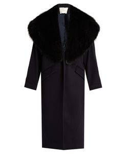 Adam Lippes | Fur-Lapel Wool And Cashmere-Blend Coat