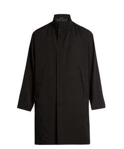 Yohji Yamamoto | Funnel-Neck Wool-Gabardine Coat