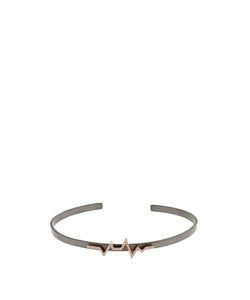 Diane Kordas | Diamond Rose-Gold Titanium Heartbeat Cuff