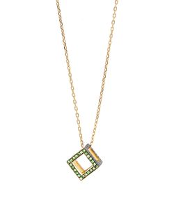 Noor Fares | Sapphire Tsavorite Yellow-Gold Necklace