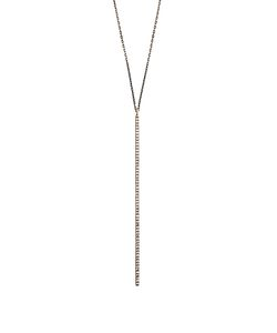 Diane Kordas | Diamond Black Rosebar Necklace