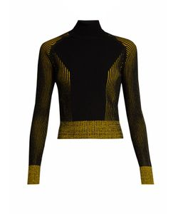 Marco de Vincenzo | Bi-Colour Ribbed-Knit Roll Neck Sweater