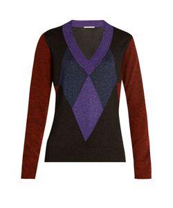 Marco de Vincenzo | Diamond-Intarsia V-Neck Sweater