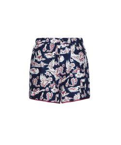 Piamita | Bettie Mermaid-Print Silk Shorts