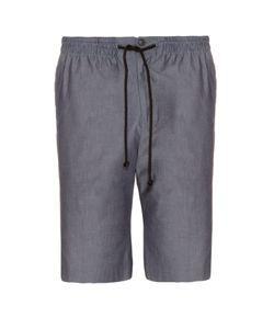 RAEY | Drawstring-Waist Chambray Shorts