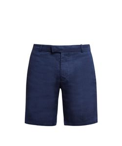 Frescobol Carioca | Tailored Linen And Cotton-Blend Shorts