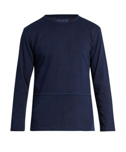 Blue Blue Japan | Exposed-Seam Cotton-Jersey Top