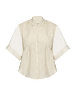 Cecilie Copenhagen   Carroll Short-Sleeved Cotton And Silk-Blend Shirt