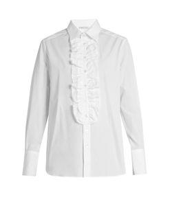 Bella Freud   Dado Ruffle-Placket Cotton Shirt