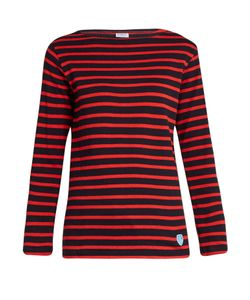 ORCIVAL | Breton-Striped Cotton And Wool-Blend Top