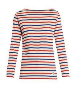 ORCIVAL | Breton-Striped Cotton Top
