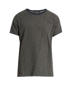 Longjourney | Crew-Neck Patch-Pocket Cotton T-Shirt