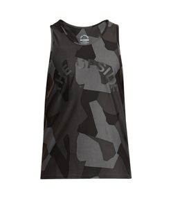 THE UPSIDE | Geo Camouflage-Print Performance Tank Top