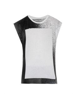 Balenciaga | Spray-Print Cotton Tank Top