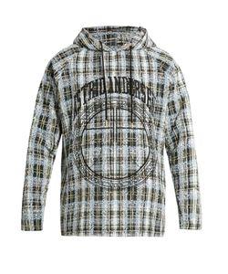 Astrid Andersen | Embroidered Checked-Tweed Hooded Sweatshirt