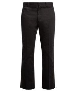 Marc Jacobs | Metallic-Stripe Straight-Leg Cotton Trousers