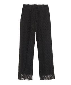 Rochas | Macramé-Lace Wide-Leg Cropped Trousers