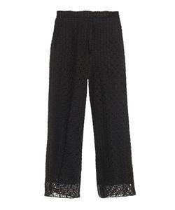 Rochas | Macramé-Lace Wide-Leg Cropped Trousers