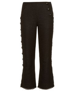Proenza Schouler | Button-Down Leg Tweed Trousers