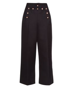 Marc Jacobs | Embellished Wool And Silk-Blend Sailor Trousers