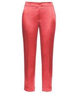 Etro | High-Rise Cigarette-Leg Satin Trousers